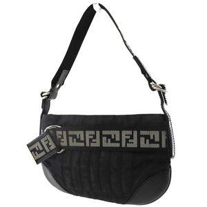 FENDI Vintage Zucca Small Black Shoulder bag!!!